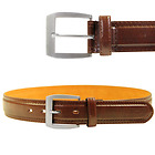 Men's Cognac Brown Leather Casual Belt