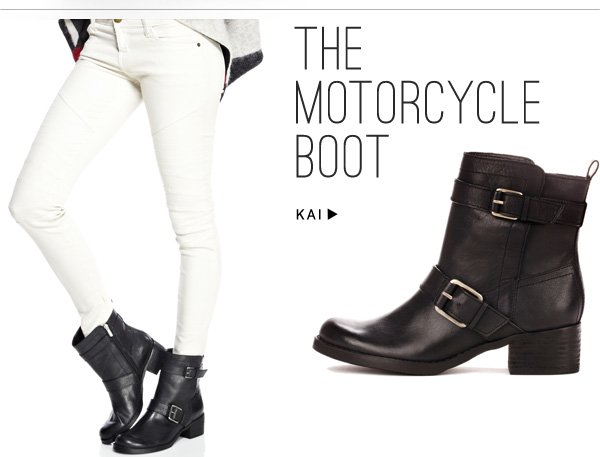 The motorcycle boot. Shop Kai