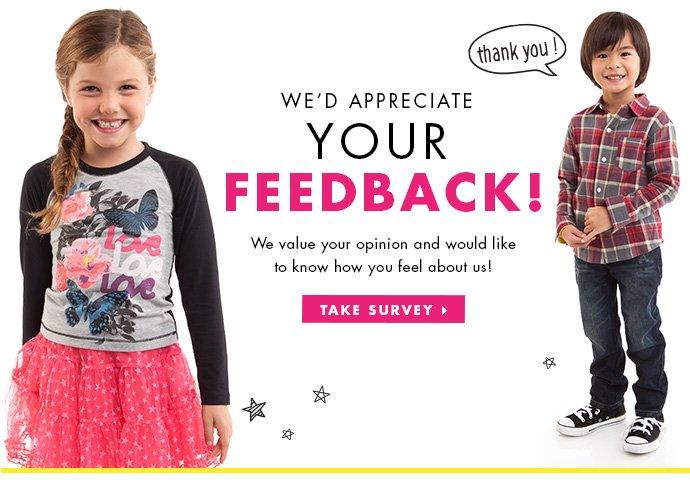 We'd appreciate your feedback!
