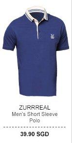 Zurrreal Short Sleeve Polo Tee