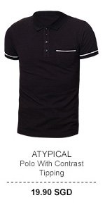Atypical Contrast Tipping Polo Tee