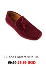 Suede Loafers With Tie