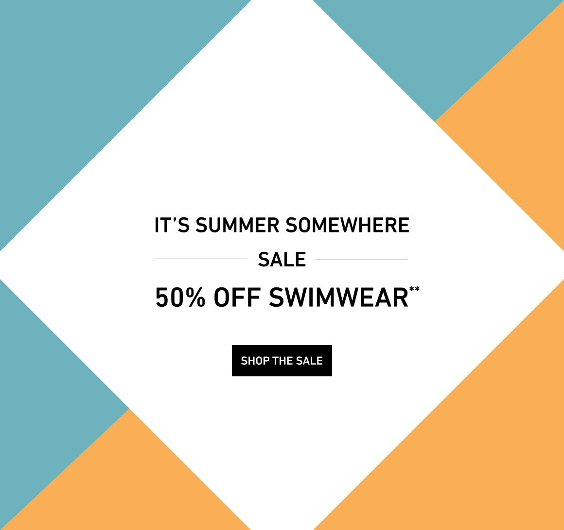Get 50% Off Women's Swimwear!