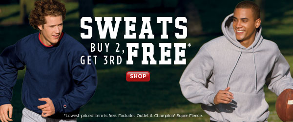 SHOP Sweats Buy 2, Get 3rd Free