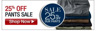 25 percent off pants sale - click the link below