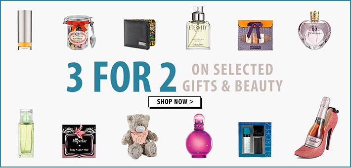 3 for 2 across gifts and beauty