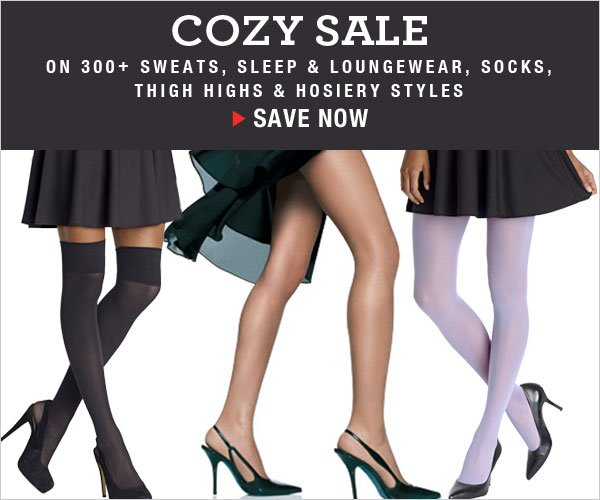 Cozy Sale: All hosiery, thigh highs, sleepwear and more