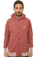 Click to Buy The Sutter Button Up Hoody in Burgundy Heather