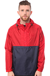 Click to Buy The Ventura Ripstop Anorak in Navy and Red
