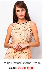 ESTELLE Polka Dotted Chiffon Dress
