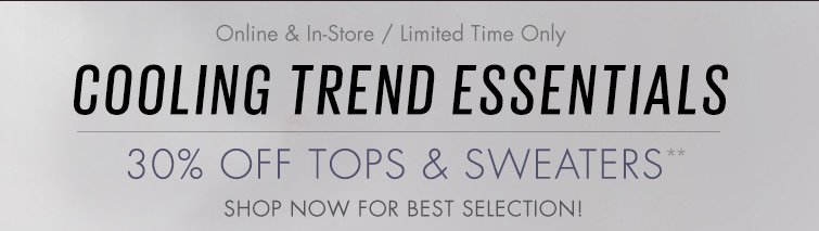 30% OFF Tops And Sweaters