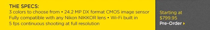 Adorama - Nikon D5300 - The Specs