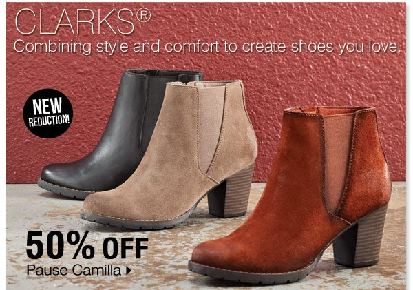Clarks® - Combining style and comfort to create shoes you love. Pause Camilla at 50% off