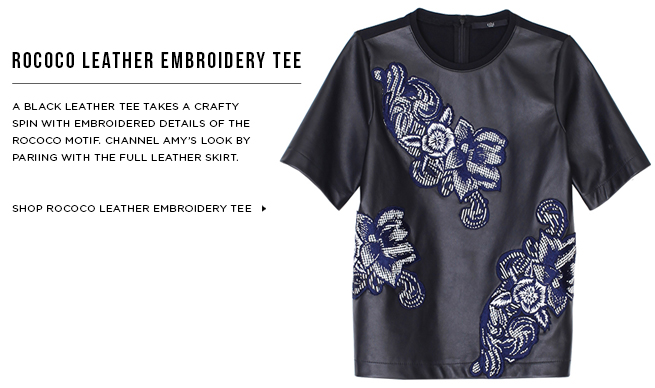 Shop Rococo Leather Embroidery Tee >
