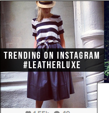 Shop What's Trending on Instagram: #LeatherLuxe