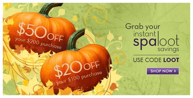 $50 off your $200 purchase   $20 off your $100 purchase use code LOOT — Shop Now »