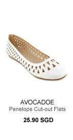 AVOCADOE Penelope Cut-out Flats