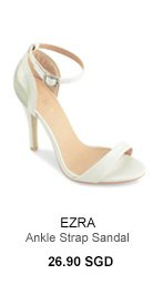 EZRA Ankle Strap Sandal With Holographic Back Detailing