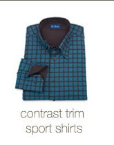 Contrast Sport Shirts