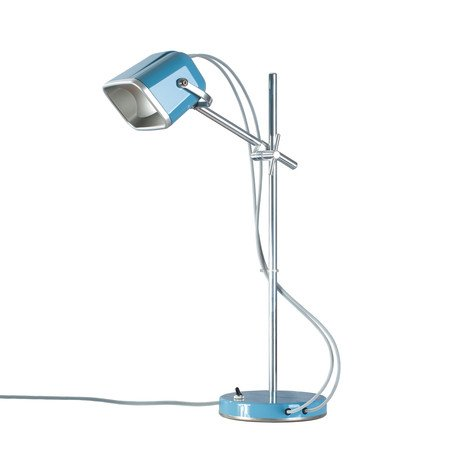 """""""Mob"""" Table Lamp // Blue + White Cord"""