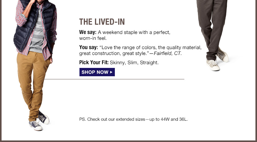 THE LIVED-IN | SHOP NOW