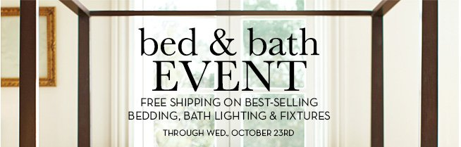 bed & bath EVENT