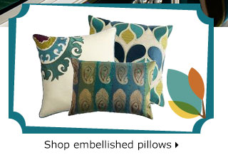 Shop embellished pillows