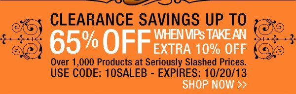 Clearance Savings up to 65% Off