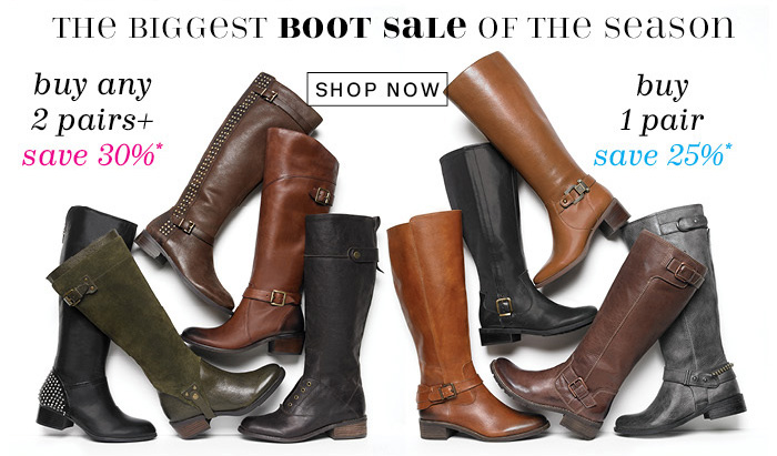 The Biggest Boot Sale of the Season*. Shop Now.