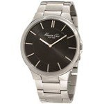 Kenneth Cole KC9106 Men's New York Slim Black Sunray Dial Stainless Steel Watch
