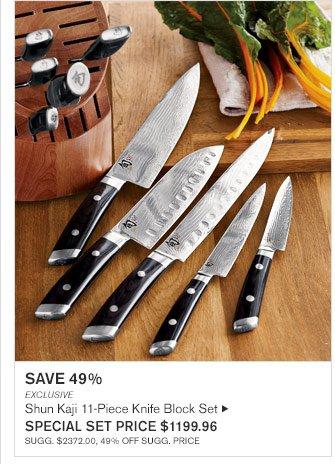 SAVE 49% - EXCLUSIVE - Shun Kaji 11-Piece Knife Block Set - SPECIAL SET PRICE $1199.96(SUGG. $2372.00, 49% OFF SUGG. PRICE)