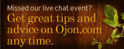 Missed our live chat event Get a great tips and advice on Ojon com  anytime