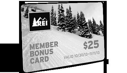 MEMBER BONUS CARD - $25 - VALID 10/30/13-11/11/13
