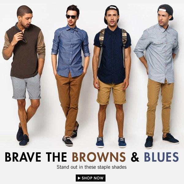 Brown & Blue