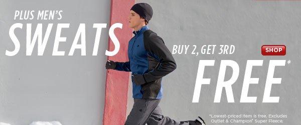 SHOP Men's Sweats Buy 2, Get 3rd Free