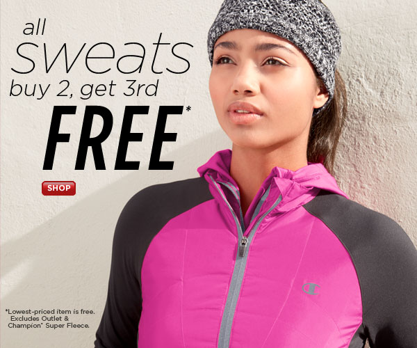 SHOP Women's Sweats Buy 2, Get 3rd Free