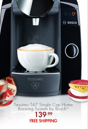 Tassimo T47 Single Cup Home Brewing System by Bosch® 139.99 FREE SHIPPING