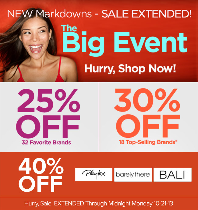 The HerRoom Big Event Sale - Extended until 10/21/2013