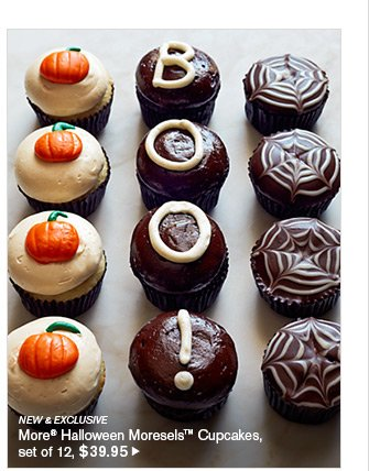 NEW & EXCLUSIVE - More® Halloween Moresels™ Cupcakes, set of 12, $39.95