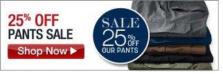 25 percent off pants sale - click the link below