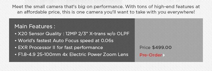 Adorama - Fujifilm XQ1