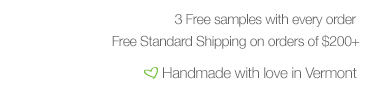 3 Free Samples & Free Shipping