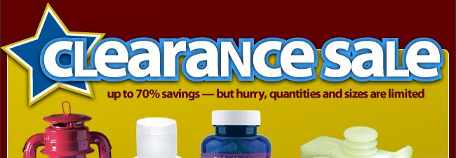 Clearance Sale - Hurry, Quantities and Sizes are Limited - Shop Now