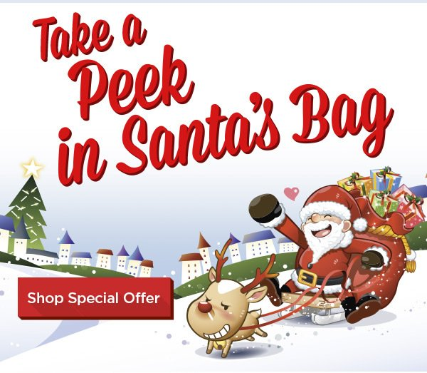 Take a peak in Santa's Bag - Shop Special Offer