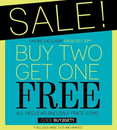 Online NOW! The Buy 2, Get 1 Free Sale Is ONLINE NOW!