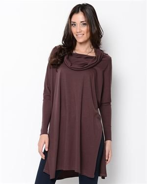 J and Company Long Sleeve Cowl Neck Dress