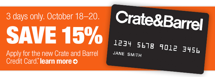 3 days only. October 18—20. save  15%
