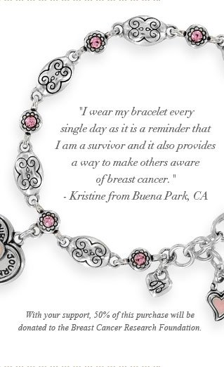 With your support, 50% of this purchase will be donated to the Breast Cancer Research Foundation.