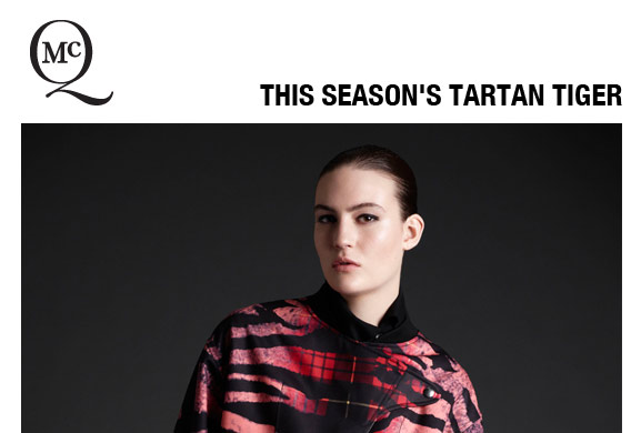 This Season's Tartan Tiger Print