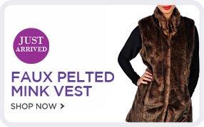 Guillaume Faux Pelted Mink Vest - Shop Now!